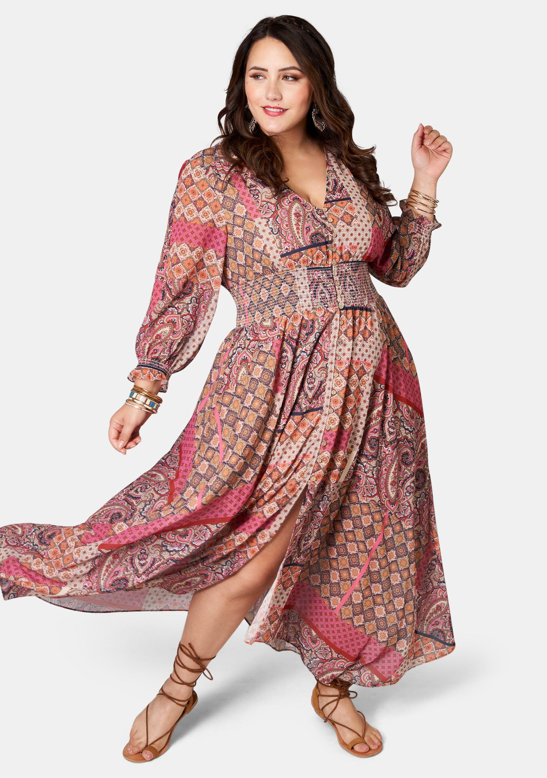 Aphrodite Print Maxi Dress