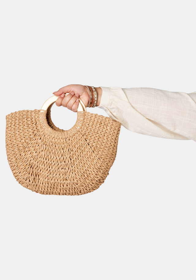 Carmella Straw Basket Bag