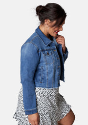 Chatterbox Crop Denim Jacket