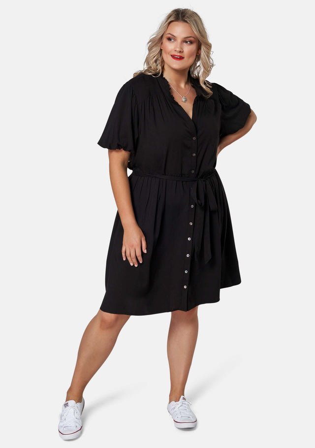 No Feeling Midi Shirt Dress