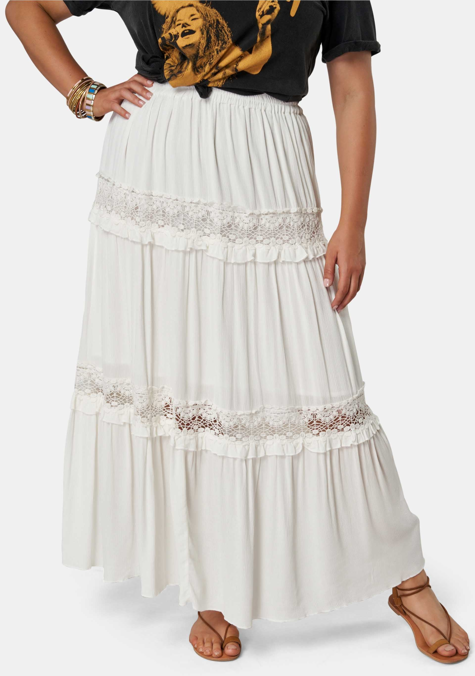 Bondi Lace Maxi Skirt
