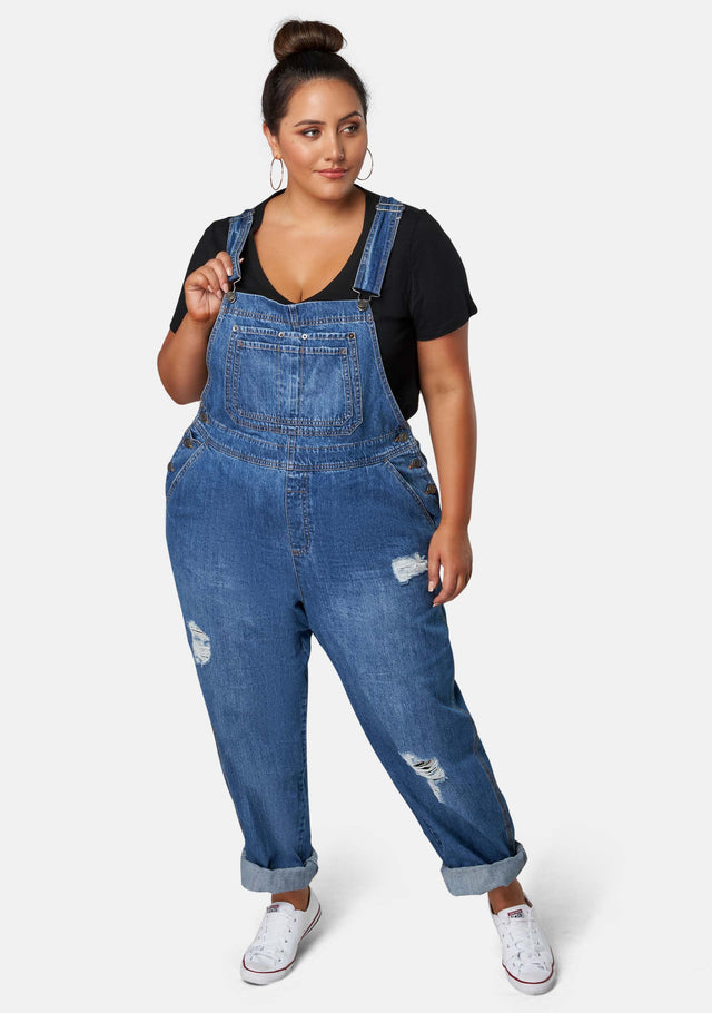 Darcy Distressed Overalls