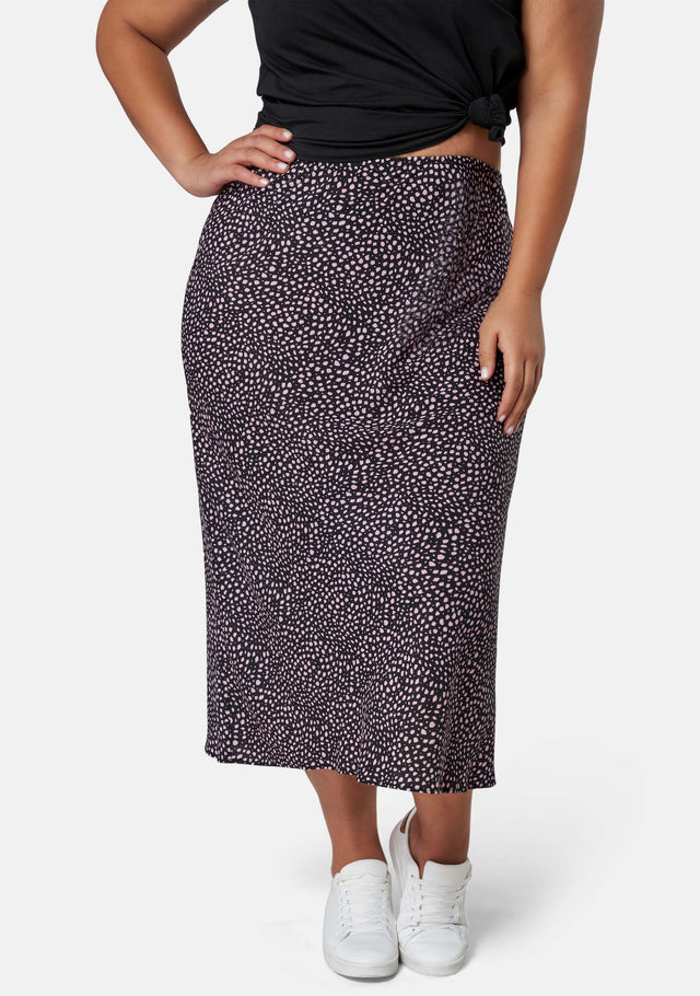 Catalina Print Midi Skirt
