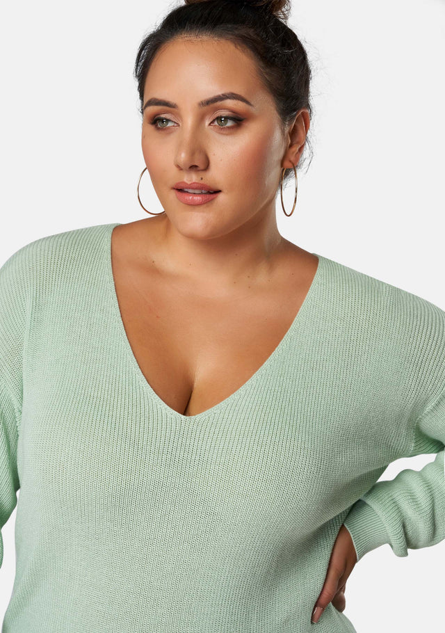Venetia V Neck Cotton Jumper