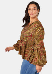 The Lovers Print Blouse