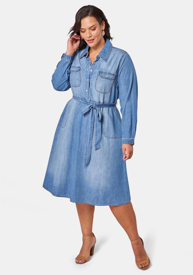 Dolly Denim Shirt Dress