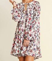Ivory Floral Trapeze Dress or Tunic