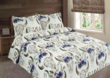 Bull Skull Quilted Bedding 3 Piece Set