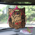 God and Grace Rear View Mirror Charm