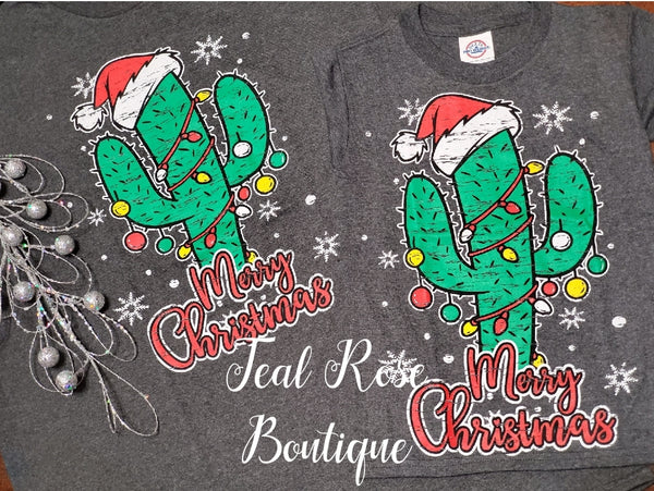 Merry Christmas Cactus Tee Youth