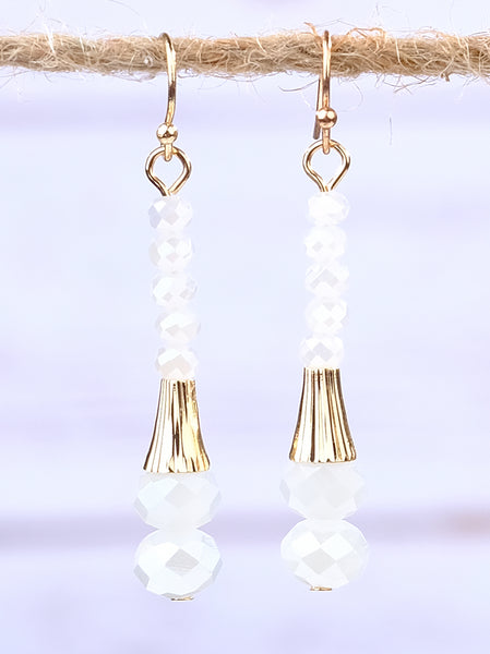 Gold Beaded Earrings