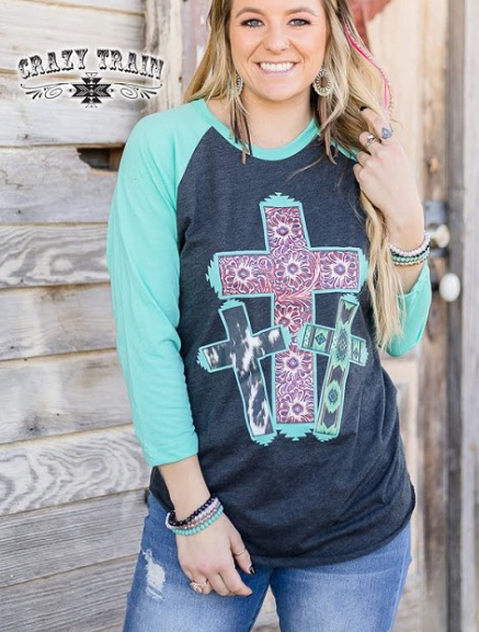 Saved by the Cross Raglan