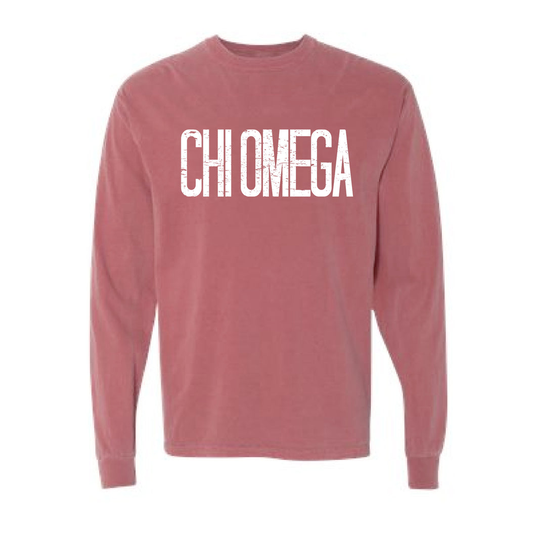 Chi Omega | Long Sleeve Tee | Avery (80)
