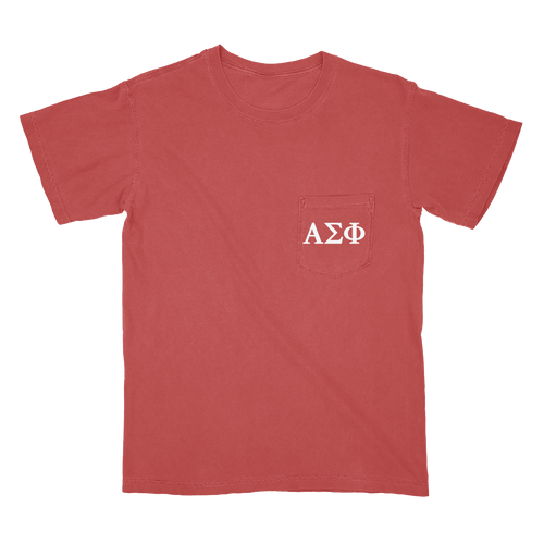 Alpha Sigma Phi | Short Sleeve Pocket Tee | Ian (197)