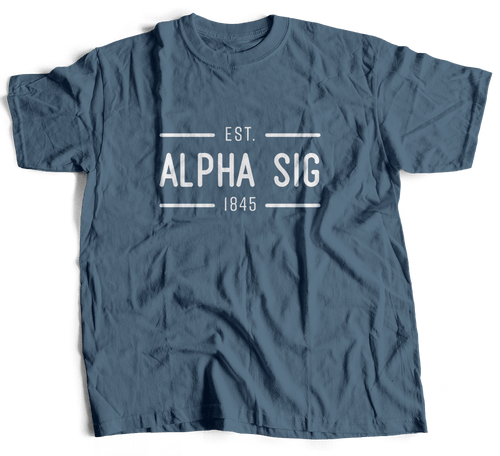 Alpha Sigma Phi| Short Sleeve Tee | Harrison (204)