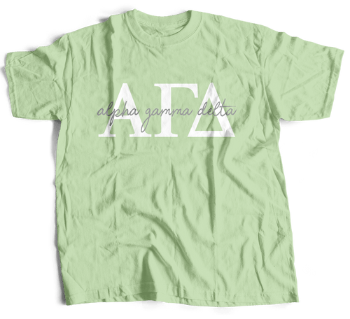 Alpha Gamma Delta | Short Sleeve Tee | Gracie (214)