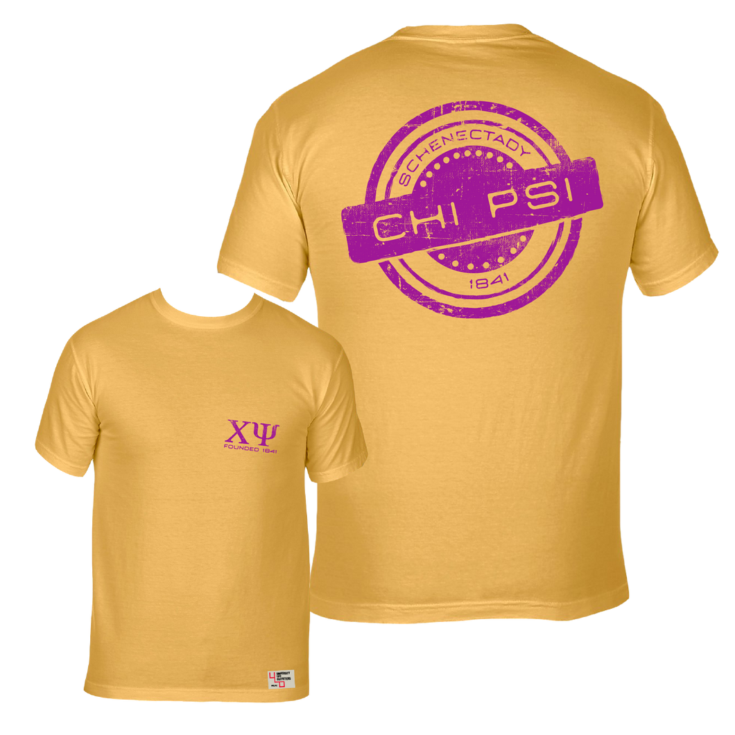 Chi Psi | Short Sleeve Pocket Tee | Samuel (296)