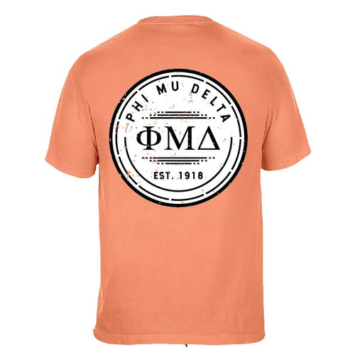 Phi Mu Delta | Short Sleeve Pocket Tee | Harold (344)