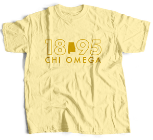 Chi Omega | Short Sleeve Tee | 505 Alabama