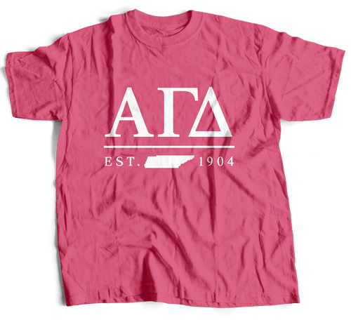 Alpha Gamma Delta | Short Sleeve Tee | Allison (530)