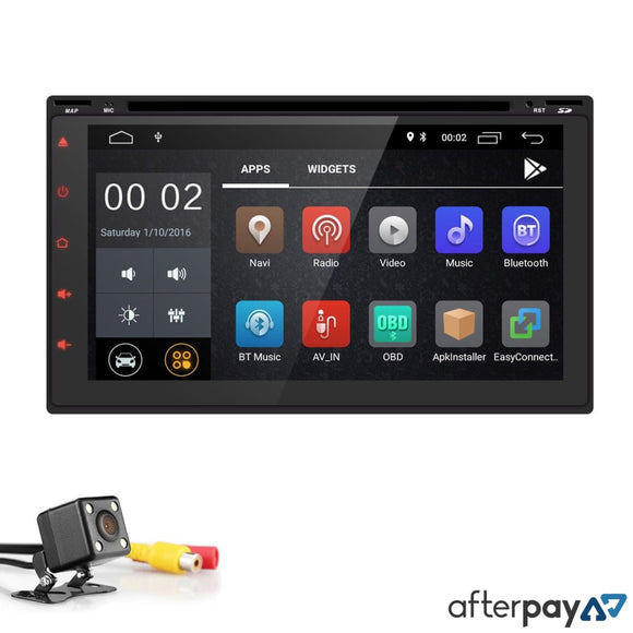 Double 2Din Andriod 8.1 Headunit & Reverse Camera Din
