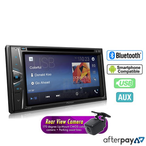 Pioneer 6.2 Touchscreen Dvd Player With Bluetooth Avh-A205Bt + Reverse Camera Headunit