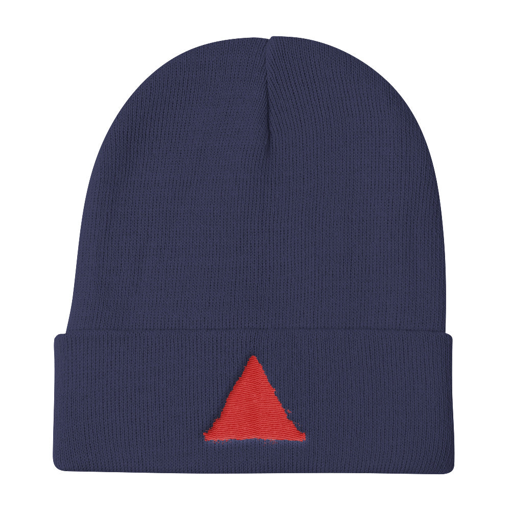 Comeback Kids Red Emblem Knit Beanie