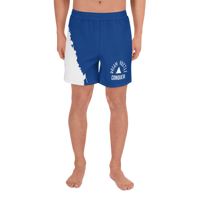 Dream Hustle Conquer Men's Blue Athletic Long Shorts