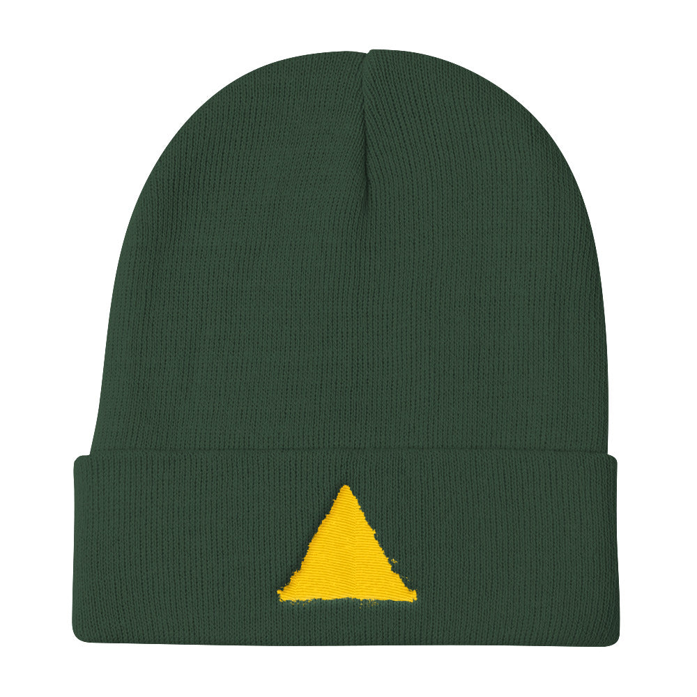 Comeback Kids Yellow Emblem Knit Beanie