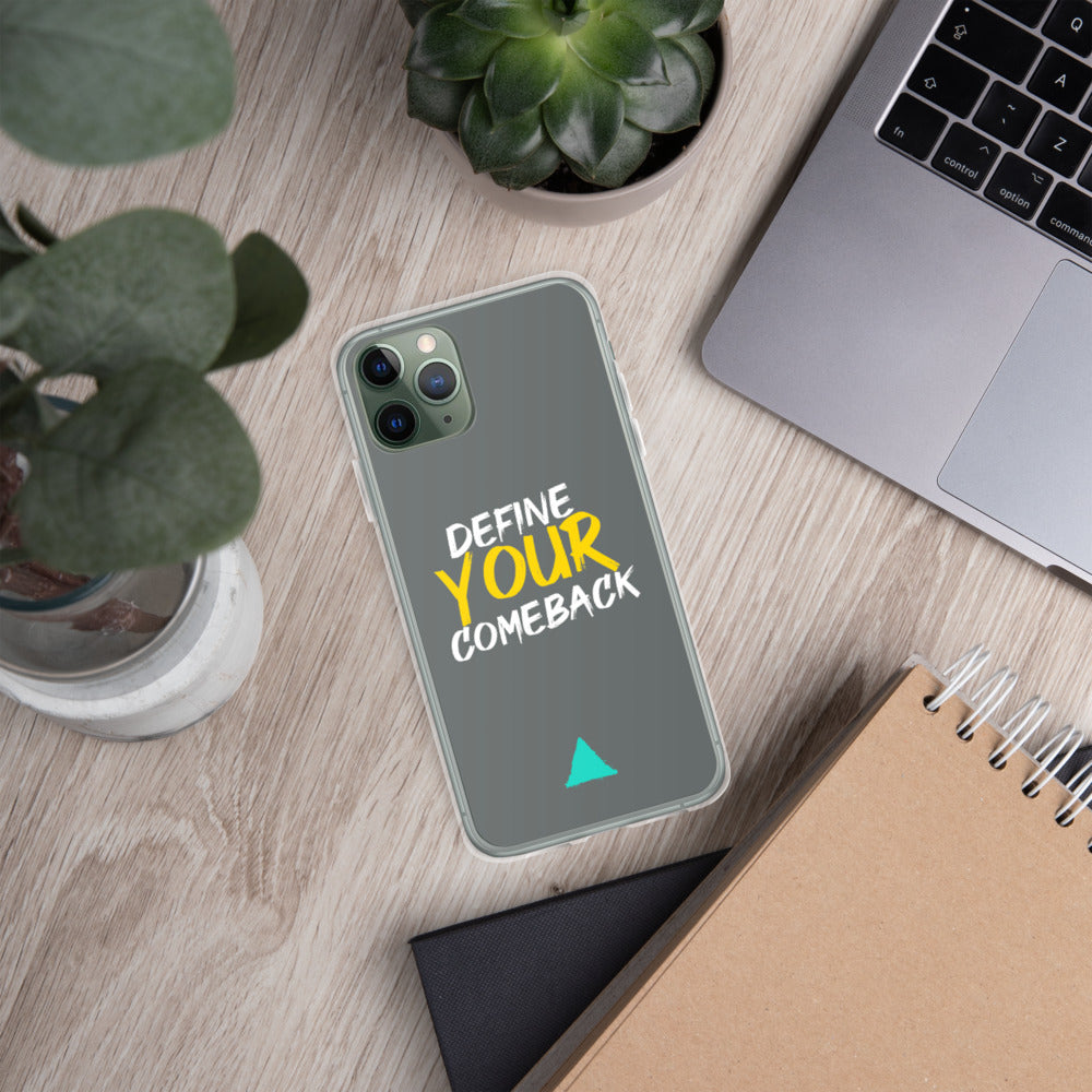Define Your Comeback Dark Grey iPhone Case