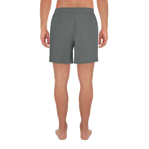 Dream Hustle Conquer Men's Grey Athletic Long Shorts