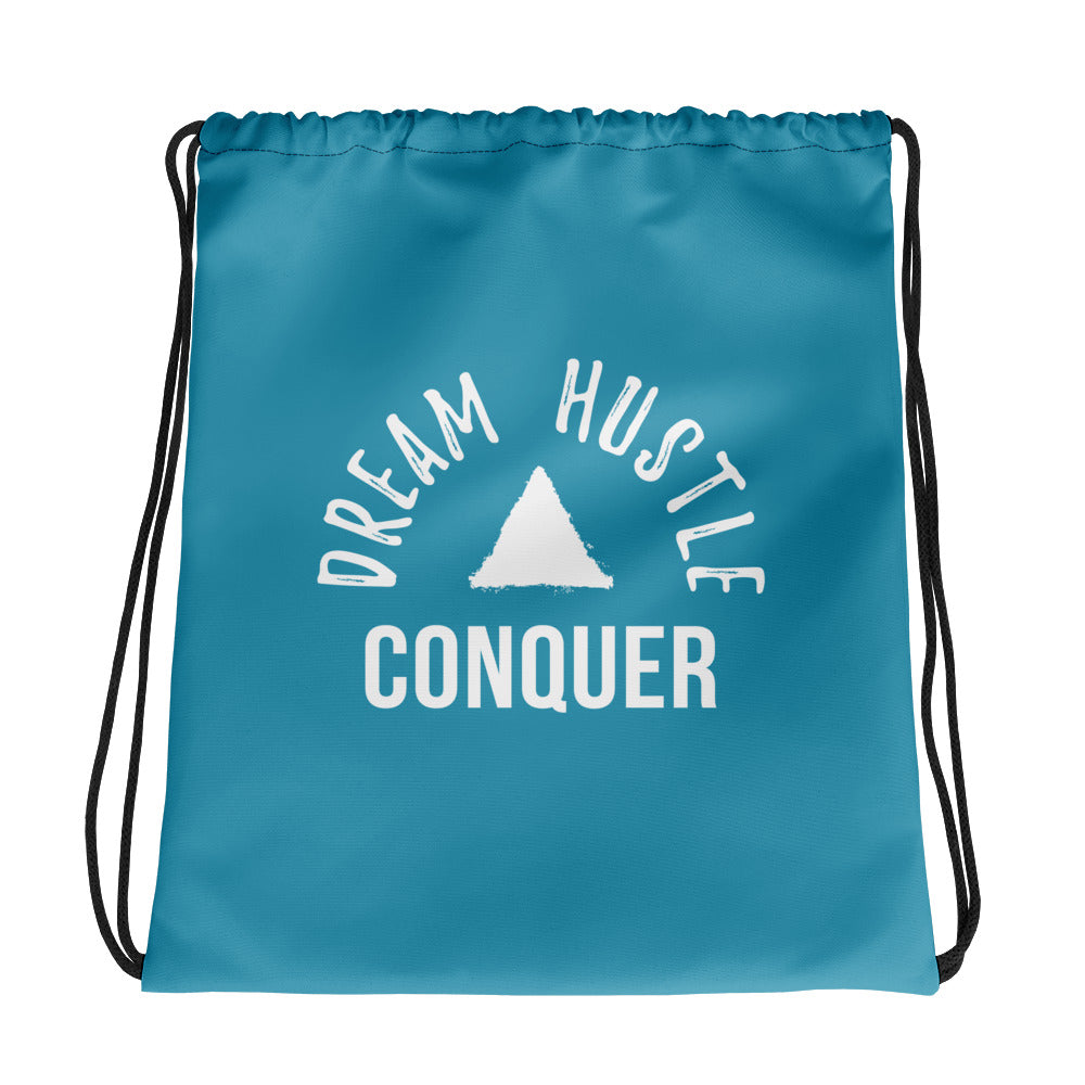 Dream Hustle Conquer Pink Drawstring Bag