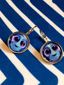 Dory glass cabochon earrings - 16mm