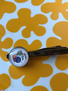 Camera glass cabochon tie clip - 16mm