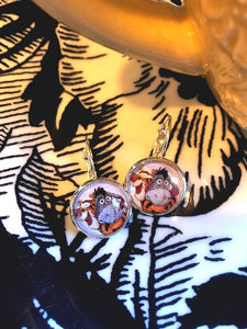 Eeyore and Tigger cabochon earrings- 16mm