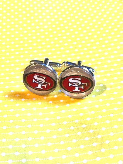 San Francisco 49ers cabochon cufflinks- 16mm