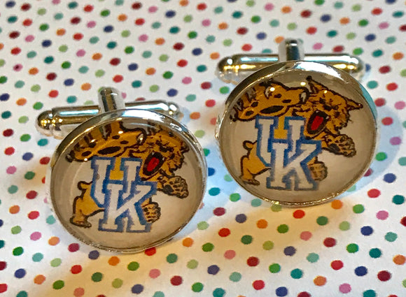 University of Kentucky WildCats cabochon cufflinks- 16mm