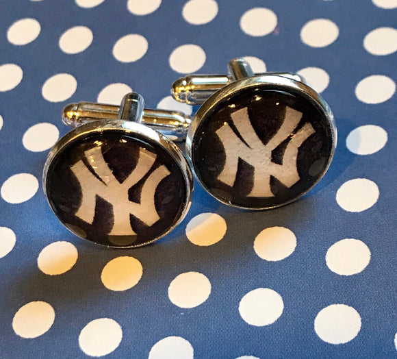 New York Yankees cabochon cufflinks- 16mm