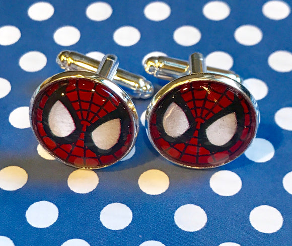 Spiderman cabochon cufflinks- 16mm