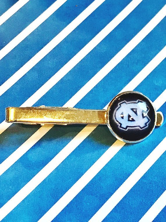 University of North Carolina Tarheels cabochon tie clip - 16mm