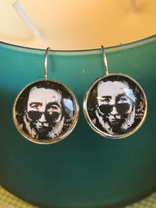 Jerry Garcia Grateful Dead cabochon earrings- 16mm