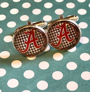 Alabama Crimson Tide  cabochon cuff links- 16mm