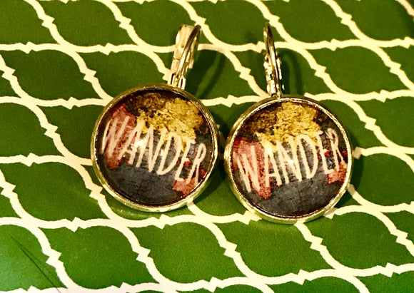 Wander cabachon earrings - 16mm