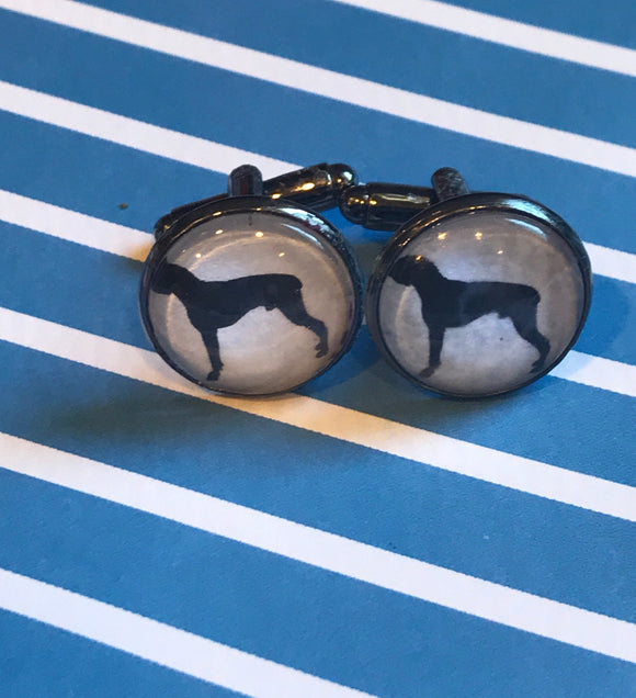 Pit Bull cabachon cuff links - 16mm