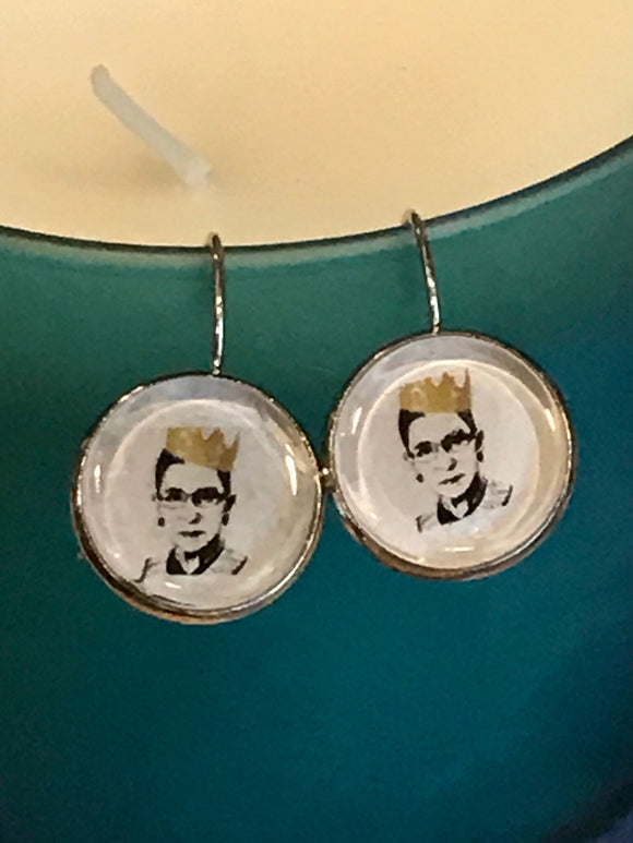 Justice Ruth Bader Ginsburg earrings - 16mm