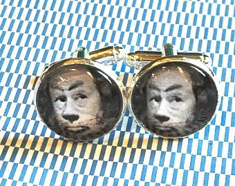 Cowardly Lion cabachon cufflinks - 16mm