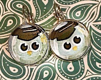 Graduation Owl earrings - 16mm