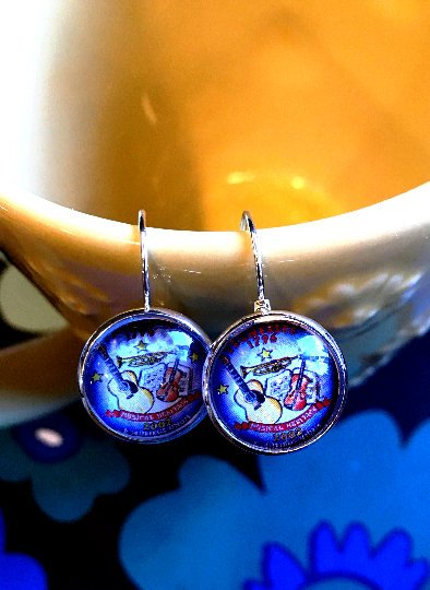 Tennessee state quarter cabochon earrings- 16mm