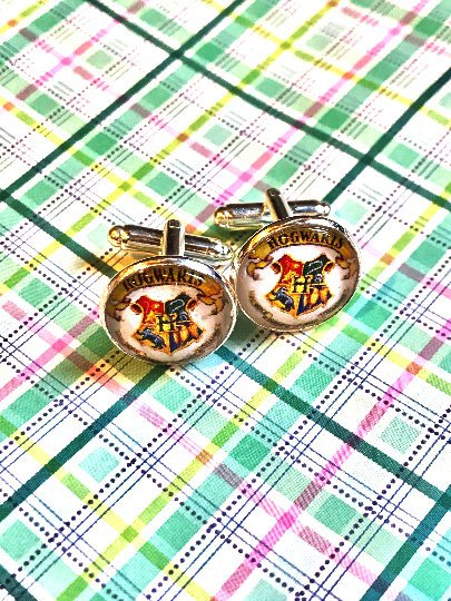 Hogwarts Harry Potter cabochon cufflinks- 16mm