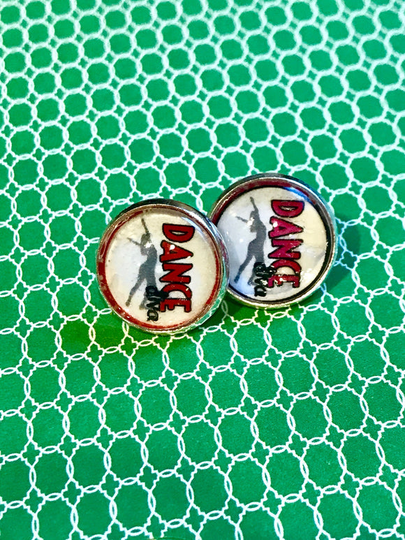 Dance Red cabochon earrings - 16mm